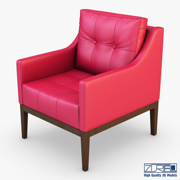 carmen armchair red leather max