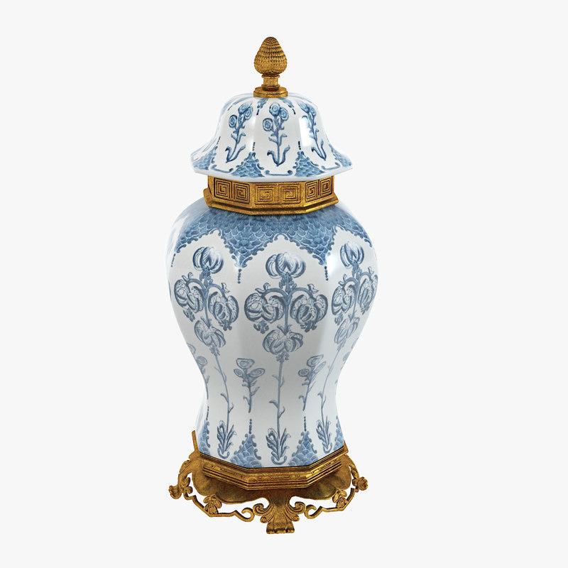 eichholtz debussy vase 3d model
