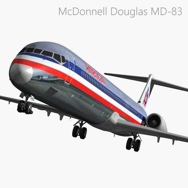 mcdonnell douglas american airlines 3d model