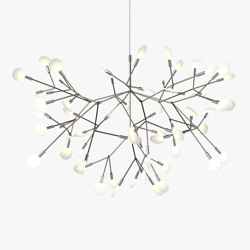 3d moooi heracleum ii lamp light model