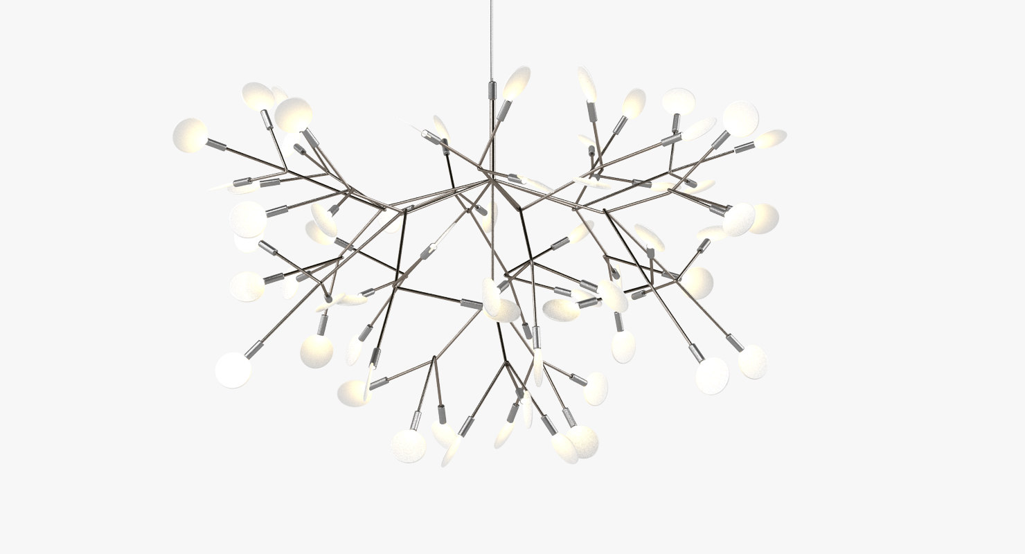 3d moooi heracleum ii lamp light model