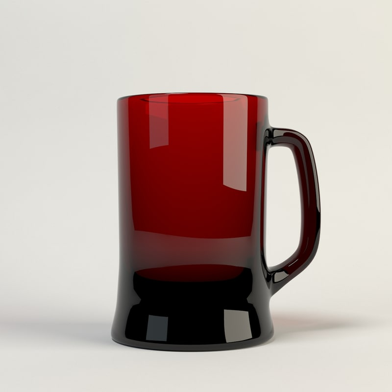 beer glass 3d max
