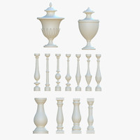 Balusters and urns pack