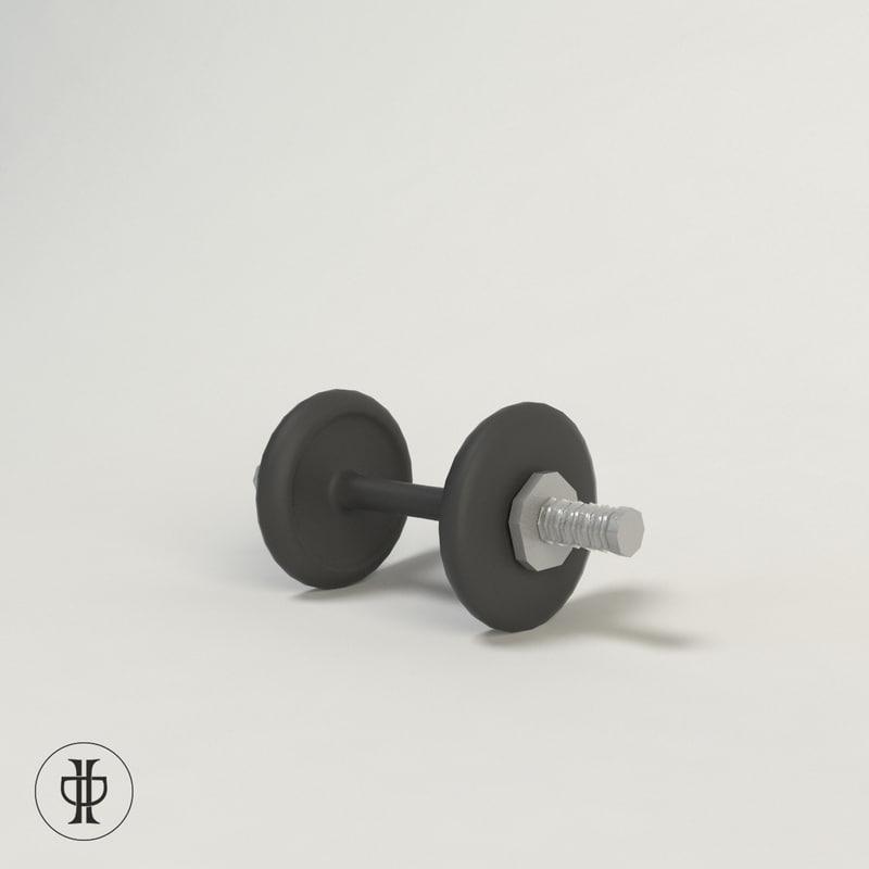 3d model of dumbell dumb bell