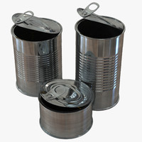 c4d open tin cans set