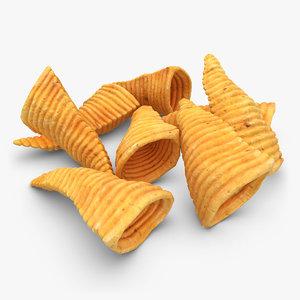 3d model realistic corn chip