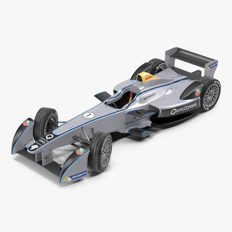 3d formula e race car