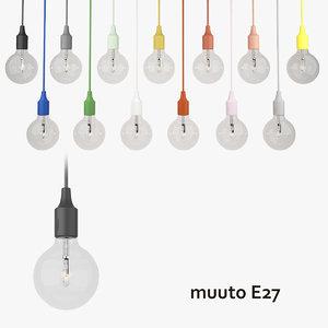 3d muuto e27 pendant lamp
