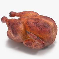 roasted turkey modeled 3d model