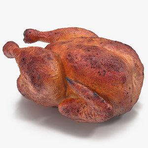 roasted turkey modeled 3d model