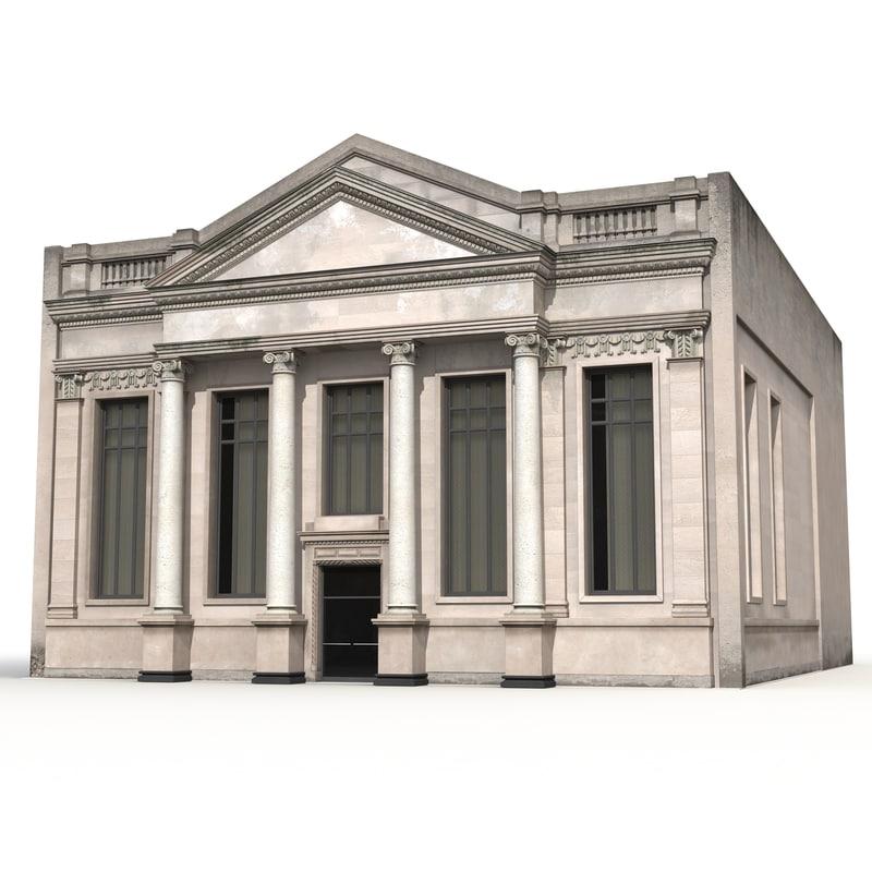 3d model building columns modeled