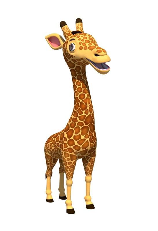 3d cute cartoon giraffe