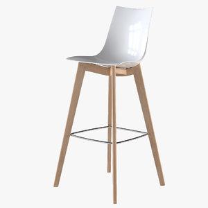 3d model stool zebra scab