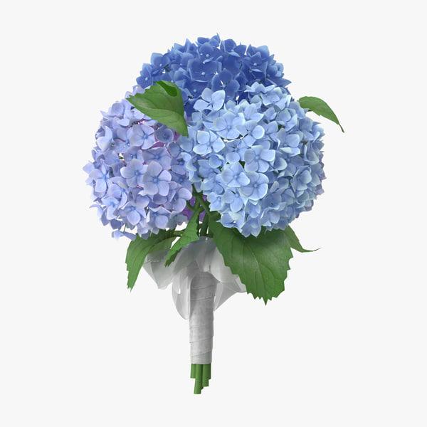 obj hydrangeas bouquet -