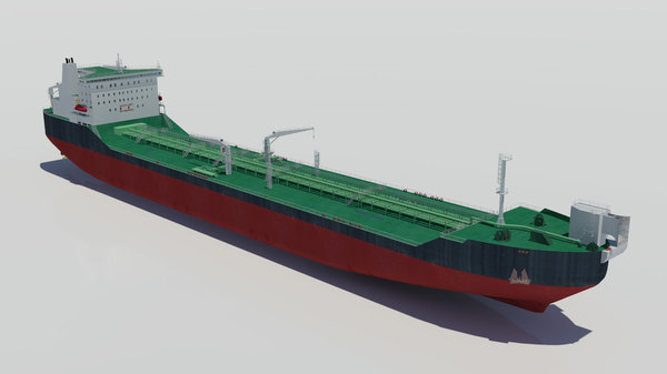 offloading icebreaker tanker oil 3d max