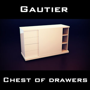 3d gautier wave chest drawers