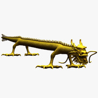 3d ancient straight dragon