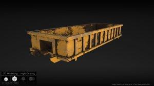 3d model industrial dumpster