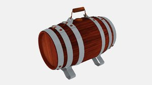 3ds rum keg water cask