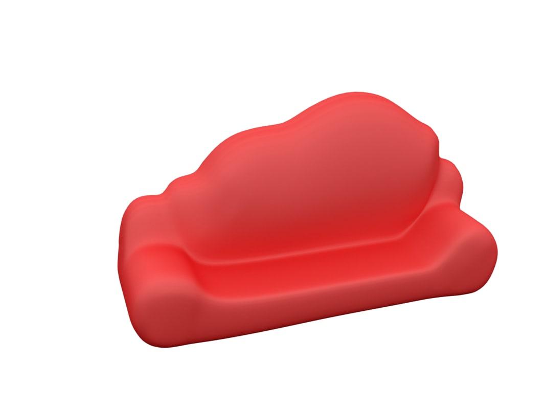 3d cloud sofa