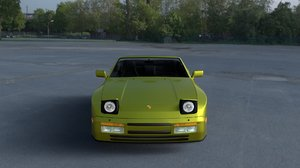 porsche 944 cabriolet interior 3d model