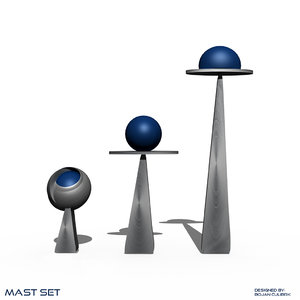 3d mast set