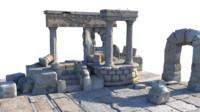 temple ruins fbx