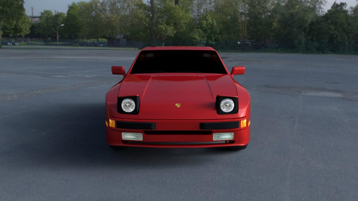 3d Obj Porsche 944 Hdri