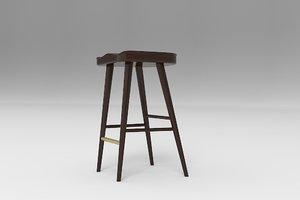 balboa stool 3d model