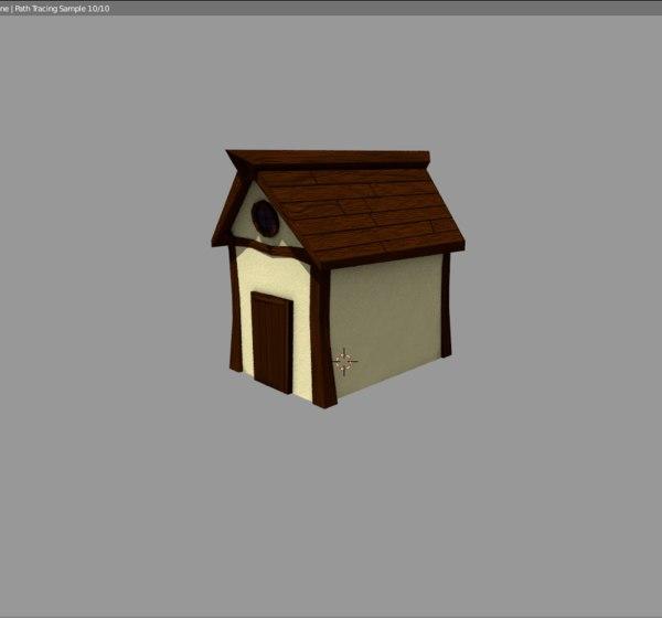 3d cottage blender