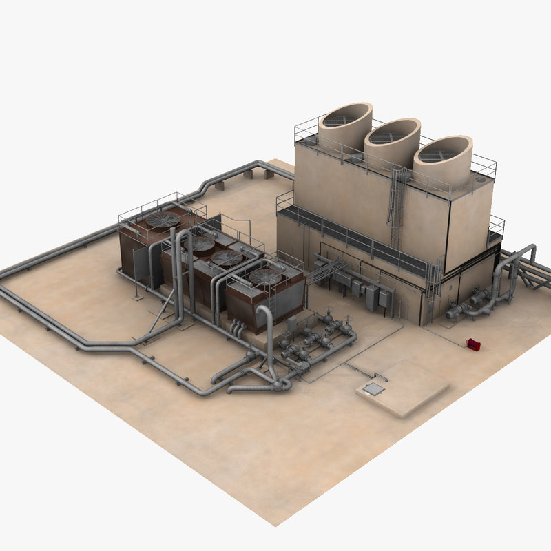 air cooling towers shuttle 3d model