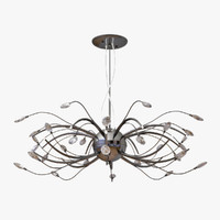 3d model chandelier lightstar isabelle 747167