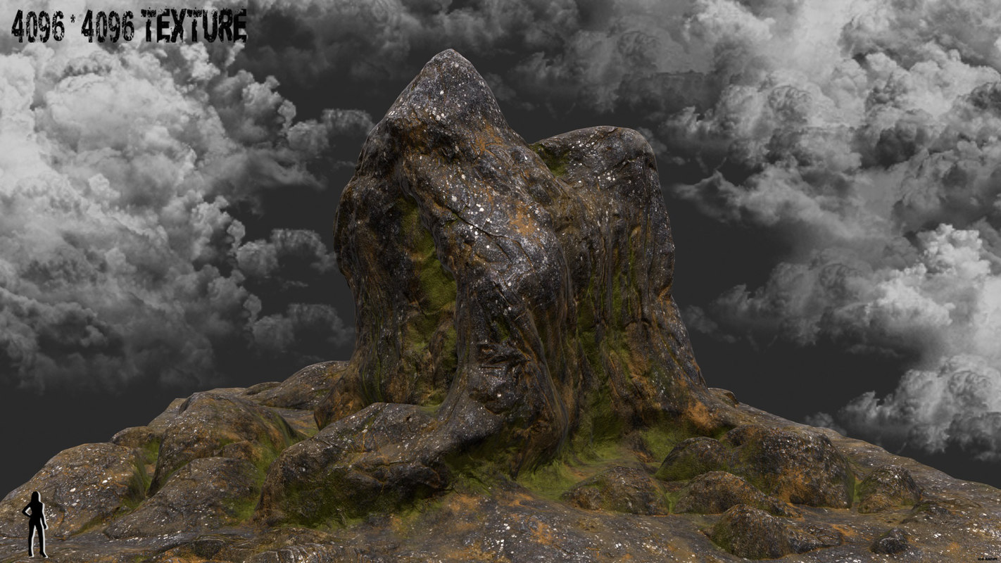 3d model rock mountain mount