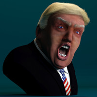 3d model donald trump rigged