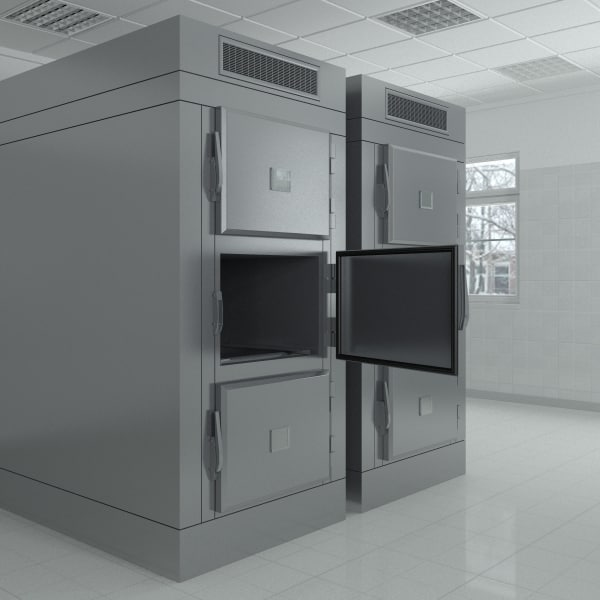3d morgue refrigeration unit