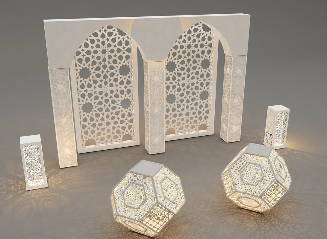 islamic decoration 3ds