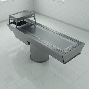 autopsy table roll-in dissection 3d max