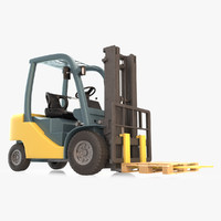 warehouse forklift 3d max