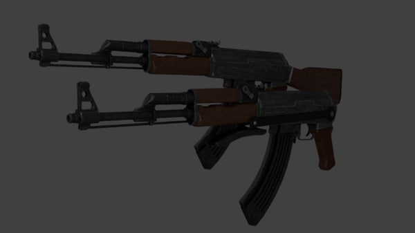 3d ak47 wooden stock folding