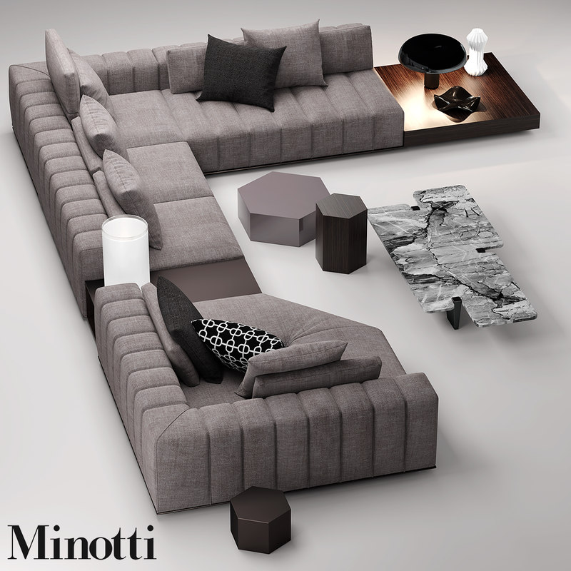 minotti freeman seat 3d max. Black Bedroom Furniture Sets. Home Design Ideas