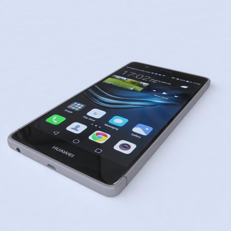 huawei p9 black 3d model