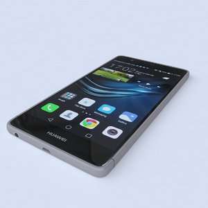 huawei p9 black 3d model