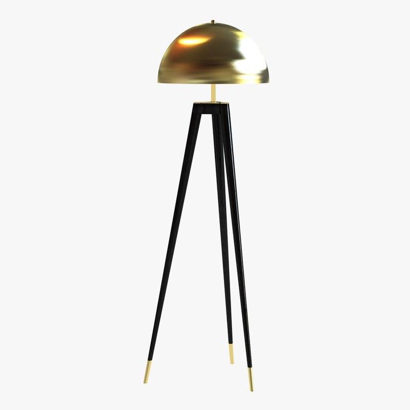 3d floor lamp tripod model