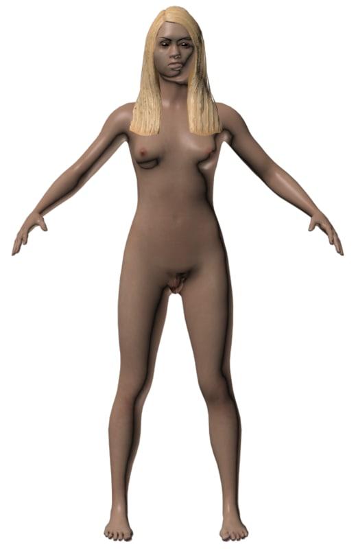 3d model nude teen woman genitalis