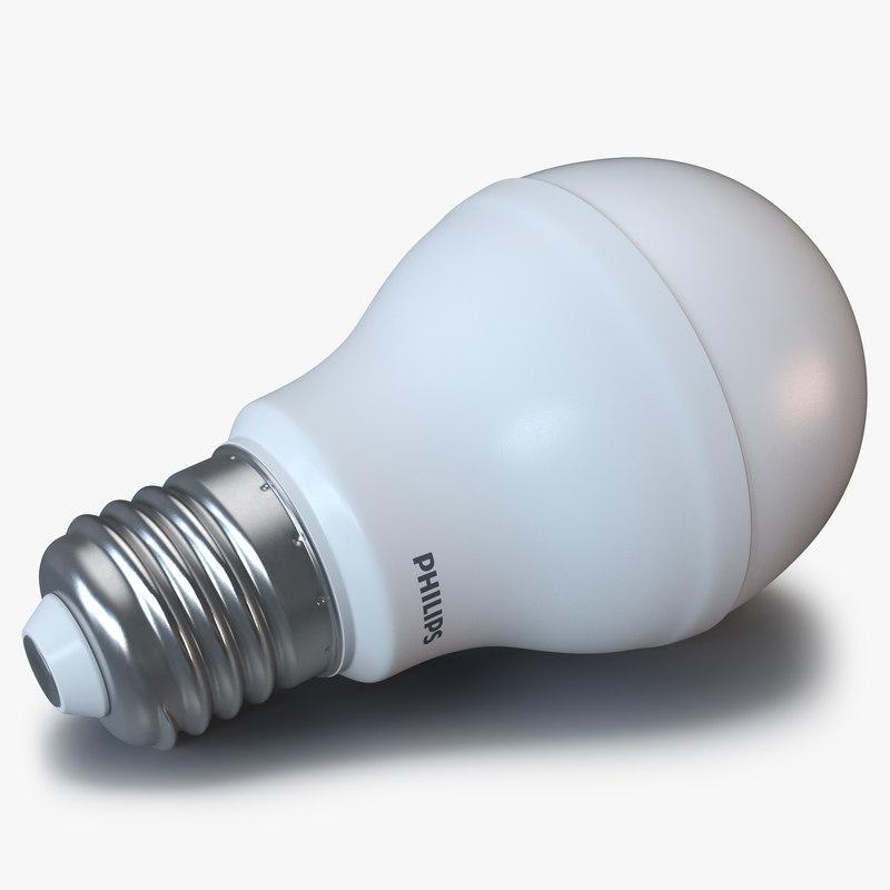 3d led lightbulb philips light model. Black Bedroom Furniture Sets. Home Design Ideas
