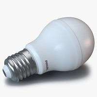 3d led lightbulb philips light model