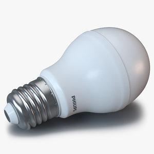 3d led lightbulb philips light model