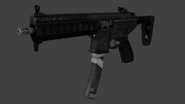 3d mpx submachine gun model