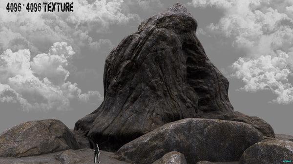3d rock mountain mount