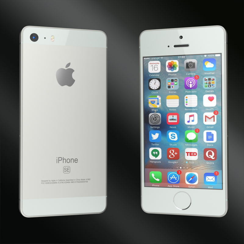 3d model of apple iphone se